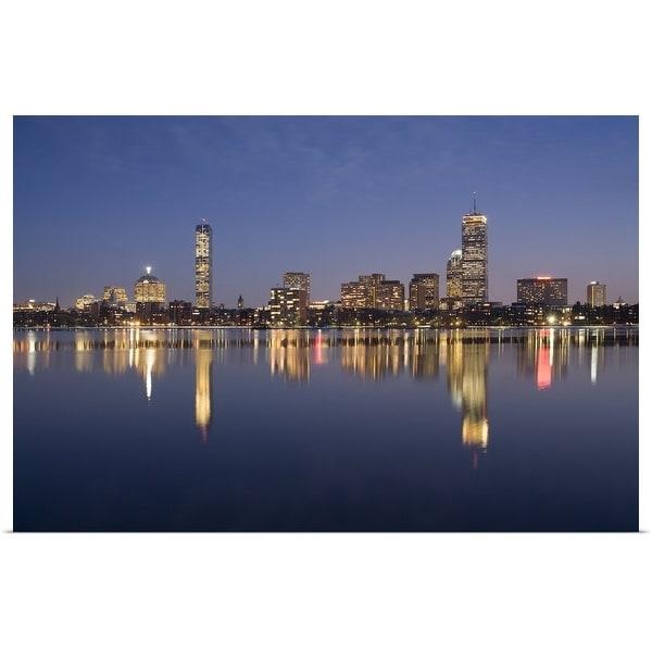 """Skyline sunset from MIT, Boston, MA"" Poster Print"