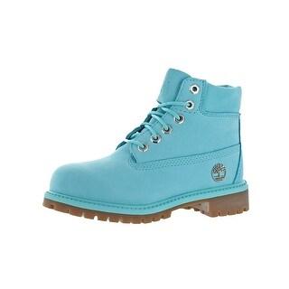 "Timberland Boys 6"" Premium Boot Waterproof Boots Little Kid Primaloft"