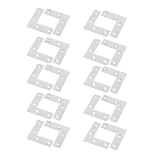 20pcs Stainless Steel Flat Corner Angle Bracket Plates Repair Fixing Brace