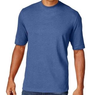 WEATHERPROOF NEW Blue Mens Size 4XLT Soft Knit Crewneck Heather T-Shirt