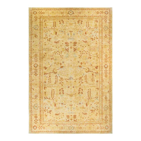 """Eclectic, One-of-a-Kind Hand-Knotted Area Rug - Beige, 12' 0"""" x 18' 2"""" - 12' 0"""" x 18' 2"""""""