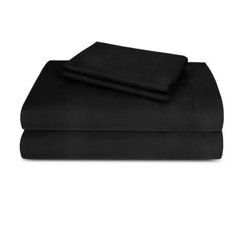 Neubella - 300 Thread Count 100% Cotton Peach Percale Bed Sheet Set