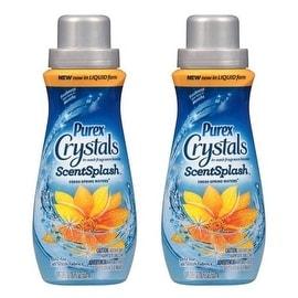Purex Crystals In-Wash Fragrance Booster - ScentSplash - Fresh Spring Waters - Net Wt. 18 FL OZ (532 mL) Each - Pack of 2