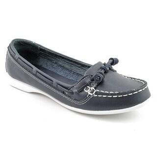 Sebago Felucca Lace Women  Moc Toe Leather Blue Boat Shoe
