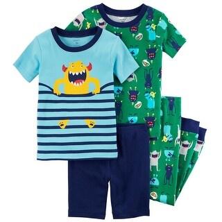 Carters Boys 12-24 Months Monster 4 Piece Pajama Set - Multi - 12 months
