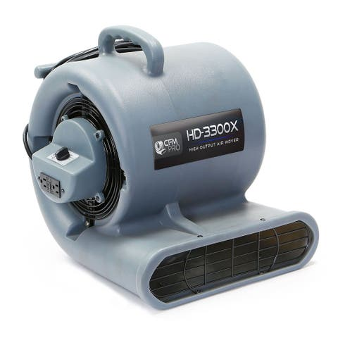 Carpet Dryer Air Mover 3 Speed 1/3 HP Blower Fan GFCI Outlets