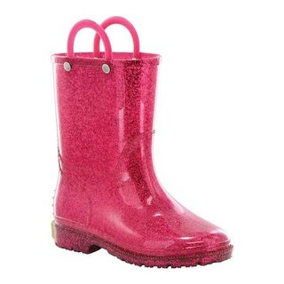 Western Chief Girls' Glitter Rain Boot Pink