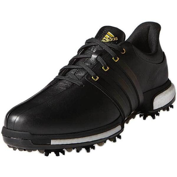 Shop Adidas Men S Tour 360 Boost Black Gold Metallic Golf Shoes F33250 F33262 Overstock 20607544