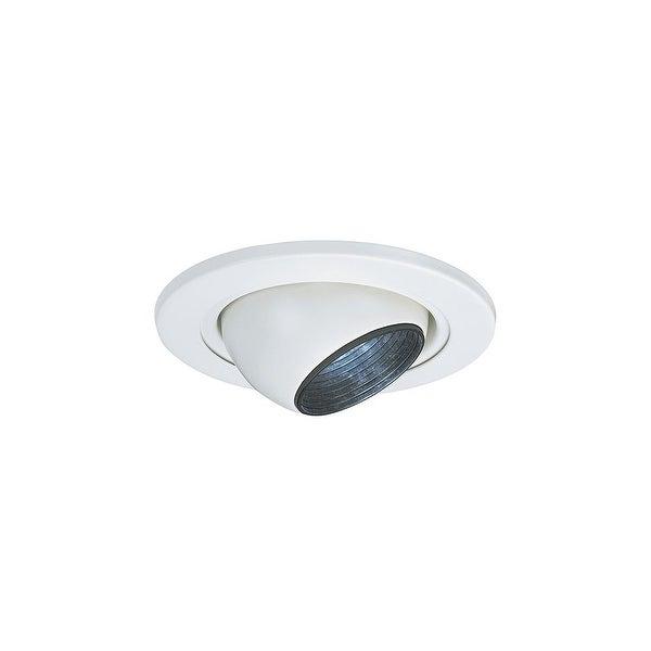 Sea Gull Lighting 1236AT-15 4-Inch Eyeball Recessed Light Fixture Trim White