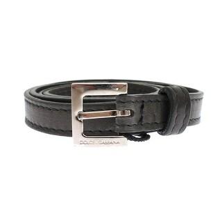 Dolce & Gabbana Gray leather belt