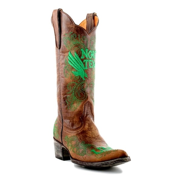 Gameday Boots Womens College North Texas Mean Green Brass