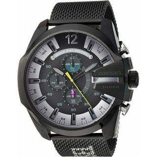 Link to Diesel Men's DZ4514 MEGA Chief with Black,Silver Stainless Steel Strap - 1 Size Similar Items in Men's Watches