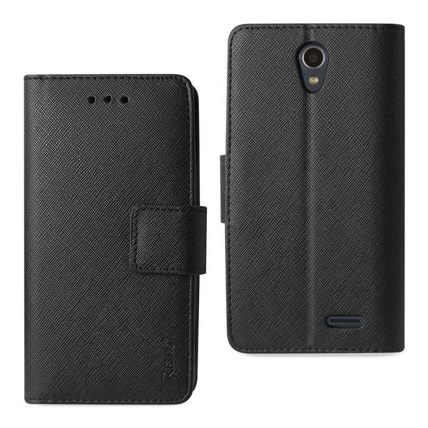 super popular d00d0 2a049 REIKO ZTE MAVEN 2/ CHAPEL/ AVID TRID (Z831) 3-IN-1 WALLET CASE IN BLACK