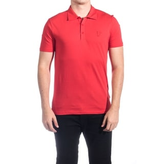 Versace Men Soft Cotton Polo Shirt Red