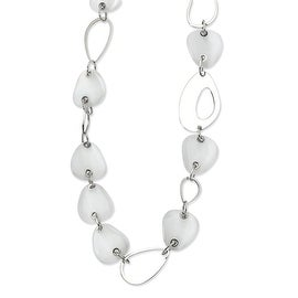 Chisel Stainless Steel Cats Eye 26 Inch Necklace (20 mm) - 26 in