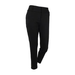 MICHAEL Michael Kors Women's Skinny Ankle Ponte Pants (Black, 6) - 6