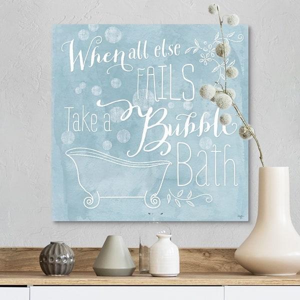 Take A Bubble Bath Canvas Wall Art Overstock 25528774