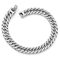 Italian 14k White Gold Polished Men's Bracelet - 8 inches - Thumbnail 0