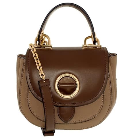 c129fe152b2c MICHAEL KORS Isadore Small Dark Khaki/Dark Caramel Top Handle Crossboy  Handbag