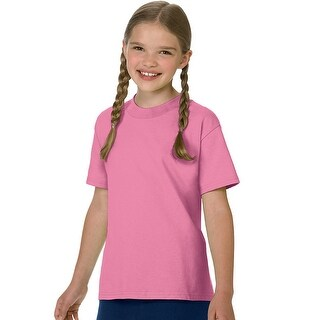 Hanes Authentic TAGLESS® Kids' Cotton T-Shirt - Size - XS - Color - Pink
