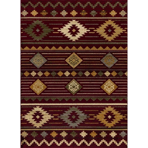 Crown Collection Modern South Western Area Rug by Mod-Arte