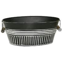 Robert Allen MPT01915 Metal Basin Planter, Charcoal, 14""