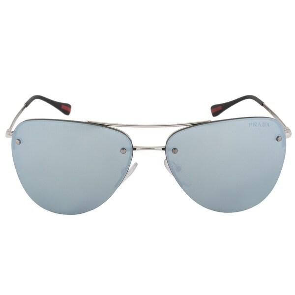 df9147e1826 Shop Prada Linea Rossa Pilot Sunglasses PR53RS 1BC5K2 57