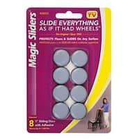 "Magic Slider 08025 Adhesive Floor Slide, Round, 1"""
