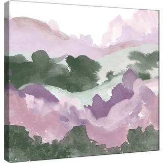 "PTM Images 9-101163  PTM Canvas Collection 12"" x 12"" - ""Layers of Spring B"" Giclee Forests and Mountains Art Print on Canvas"