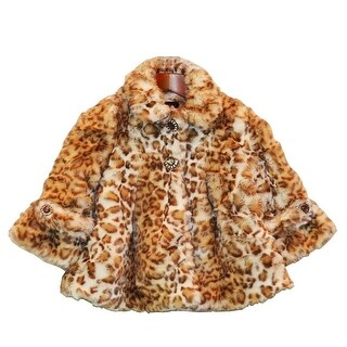Girls Snow Leopard Faux Fur Coat 7-12
