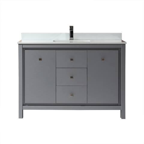 OVE Decors Kevin 48 in. Bathroom Vanity in Pebble Grey