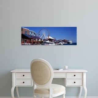 Easy Art Prints Panoramic Images's 'Ferris wheel, Navy Pier, Lake Michigan, Chicago, Cook County, Illinois' Canvas Art