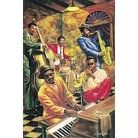 ''Cool Jazz'' by Sarah Jenkins Jazz Art Print (18.125 x 12 in.)
