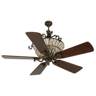 """Craftmade K10878 Cortana 54"""" 5 Blade DC Indoor Ceiling Fan - Blades and Remote Included"""