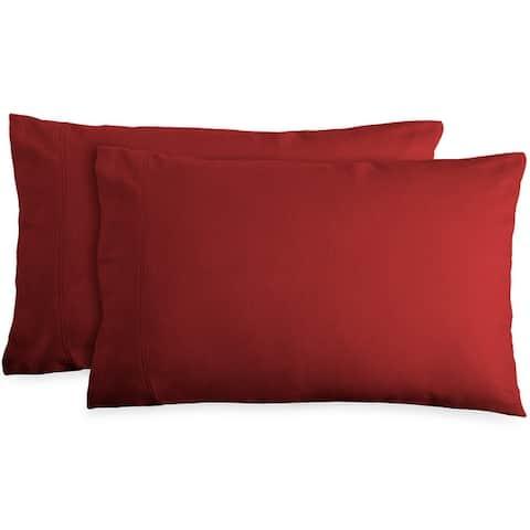 Bare Home 100% Cotton Flannel Pillowcase Set - Velvety Soft, Set of 2
