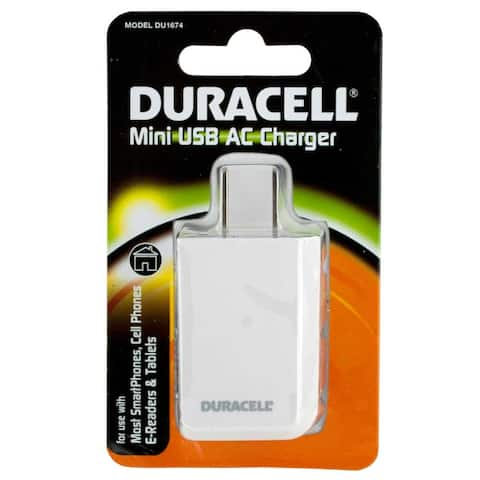 Duracell White USB Charger DU1674 for Smart Phones E-Readers Tablets and More