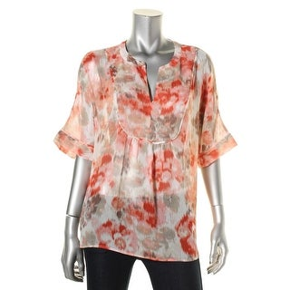 Two by Vince Camuto Womens Blouse Pattern V-Neck