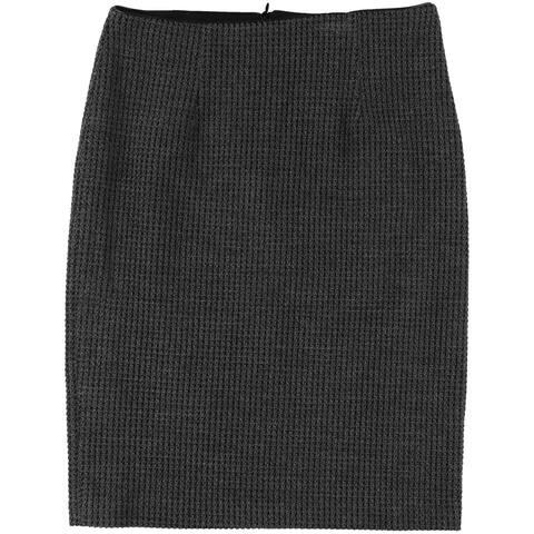 Nanette Lepore Womens Please Me Pencil A-line Skirt, Grey, 8