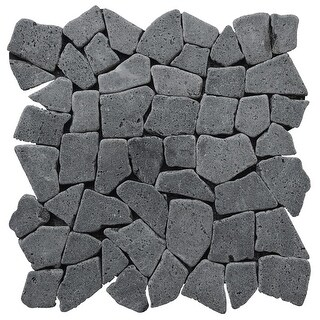 Miseno MT-R3RBK Seamless Mosaic Natural Stone Tile (9.68 SF / Carton) - Black