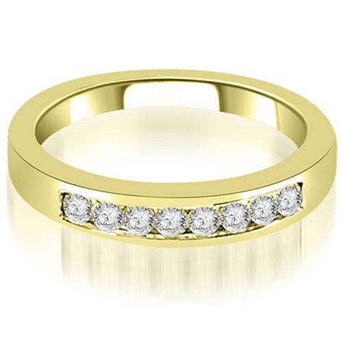 0.30 cttw. 14K Yellow Gold Channel Set Round Cut Diamond Wedding Band
