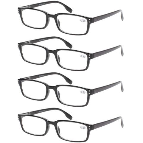 Eyekepper Reading Glasses 4 Pack Spring Hinge Comfort Readers