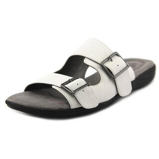 Life Stride Ellway Women  Open Toe Synthetic White Slides Sandal