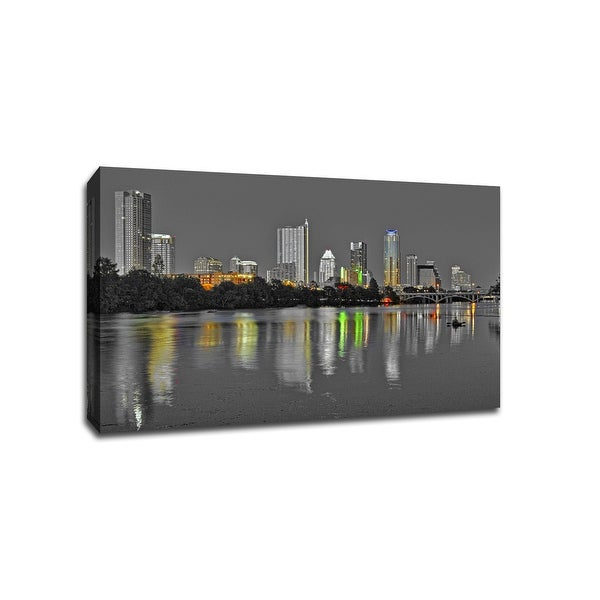 Austin - Touch of Color Skylines - 36x24 Gallery Wrapped Canvas Wall Art ToC