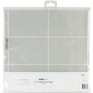 "D-Ring Album Page Protectors 12""X12"" 10/Pkg-(6) 6""X4"" Pockets"