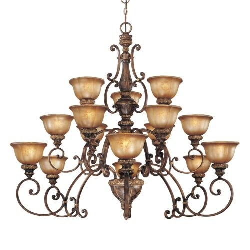 Minka Lavery ML 1359 15 Light 3 Tier Chandelier from the Illuminati Collection
