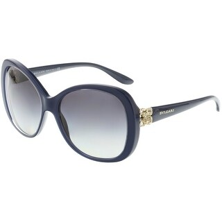 Bvlgari Women's Gradient BV8171B-53908G-57 Blue Oval Sunglasses