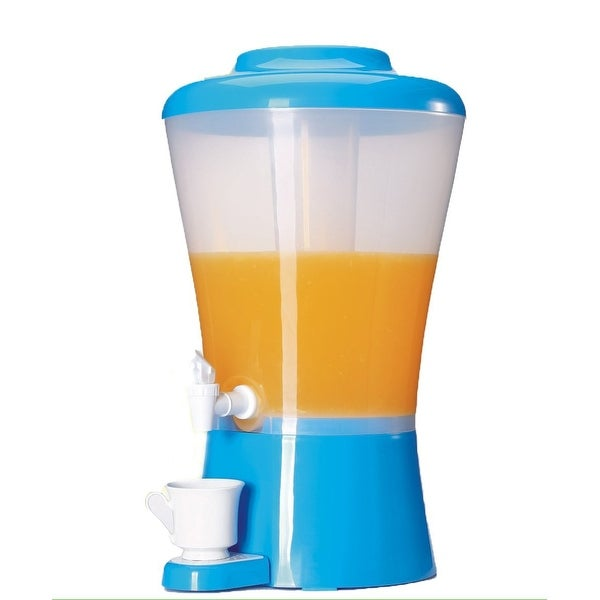 Palais Dinnerware Plastic Beverage Drink Dispenser with Ice Tube