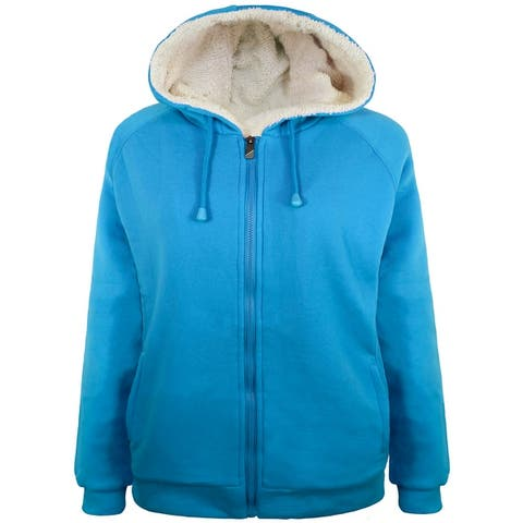Victory Outfitters Ladies Knit Fleece Zip Up Hoodie