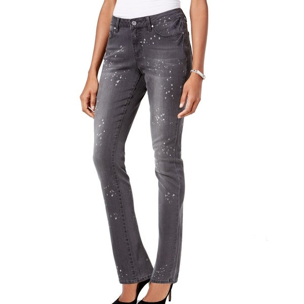 Earl Jean NEW Gray Womens Size 14 Paint Splatter Slim Skinny Jeans