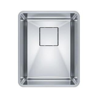 "Franke PTX110-14 Pescara 14"" Single Basin Undermount 18-Gauge Stainless Steel Ba"